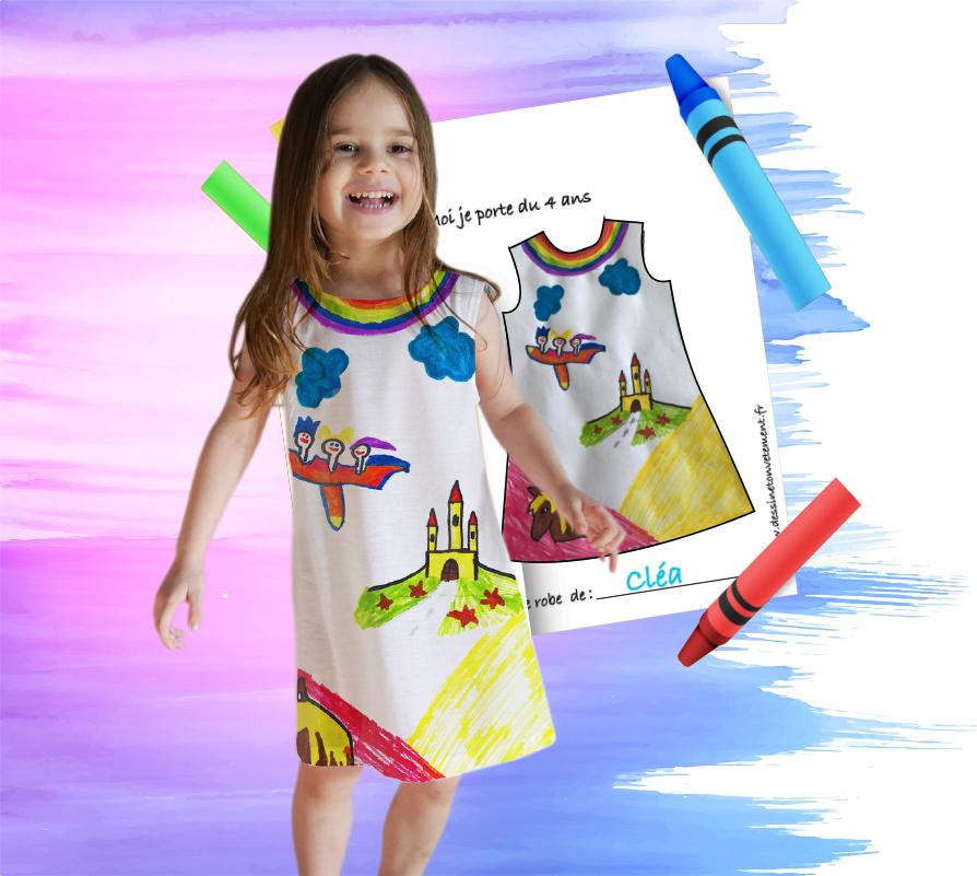 Robe personnalisée pour fille