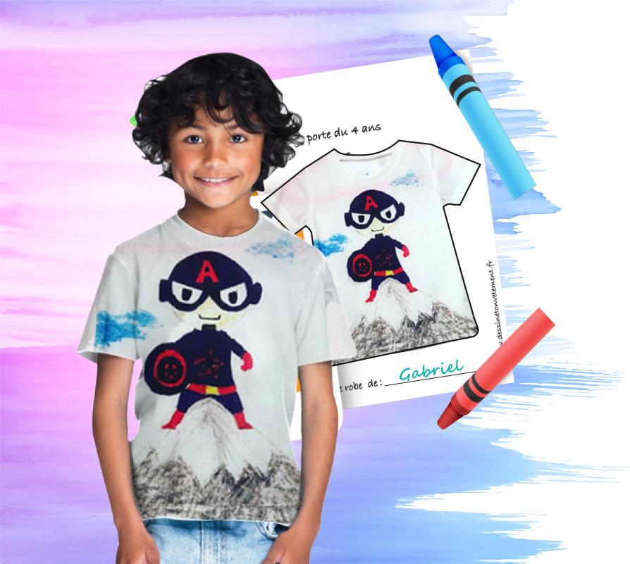 Tshirt personnalisé enfant